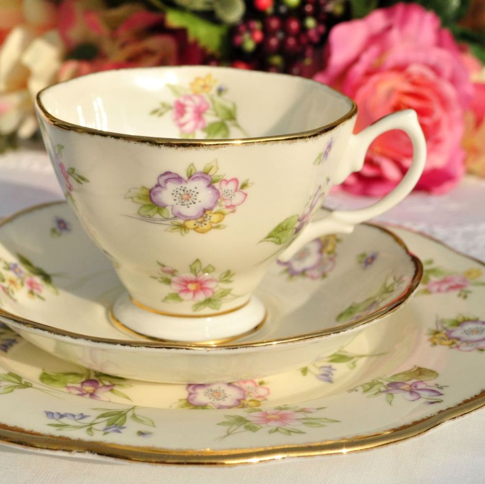 Royal Albert Spring Meadow Bone China Teacup Trio