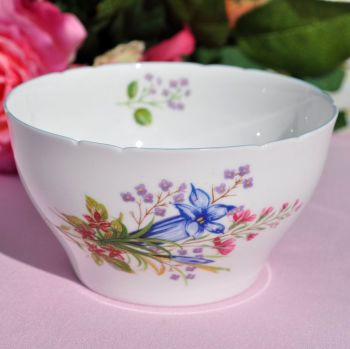 Shelley Wildflowers 13668 Vintage China Sugar Bowl