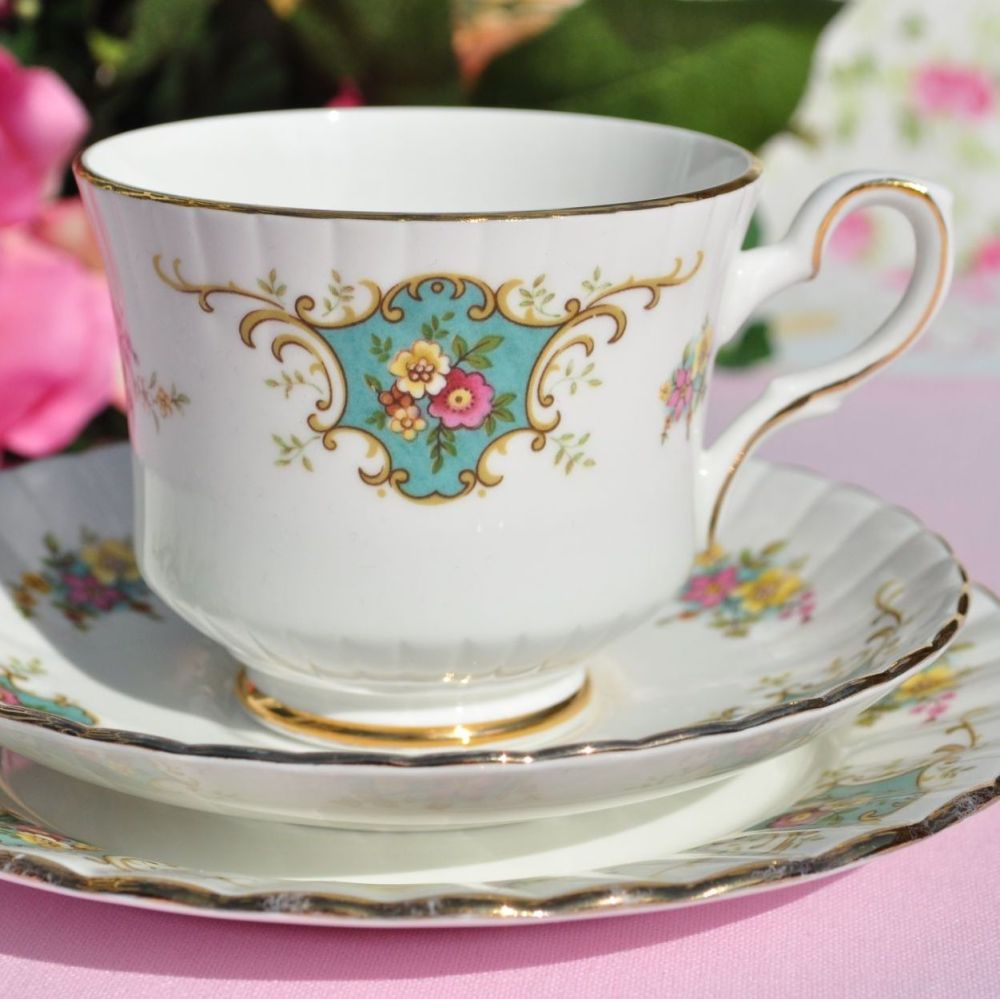Royal Stafford True Love Vintage China Teacup Trio