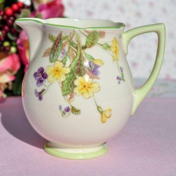 Royal Doulton April Primroses & Violets Vintage Bone China Milk Jug c.1939