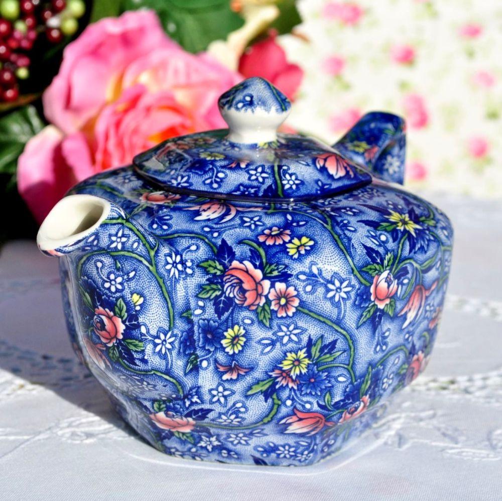 Ringtons Blue Chintz 16 fl.oz. Vintage China Teapot