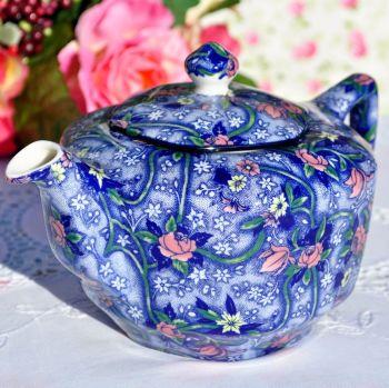Ringtons Blue Chintz 1.25 Pint China Teapot