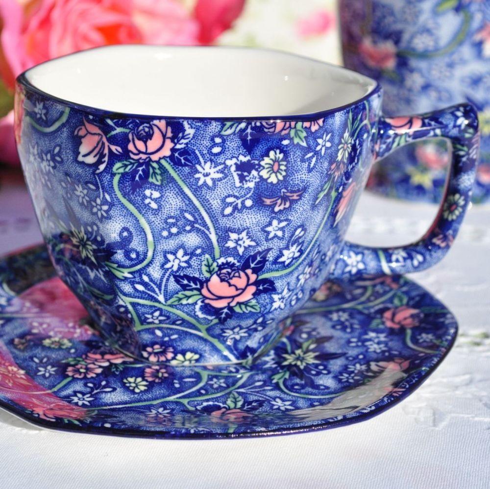 Ringtons Blue Chintz China Teacup & Saucer