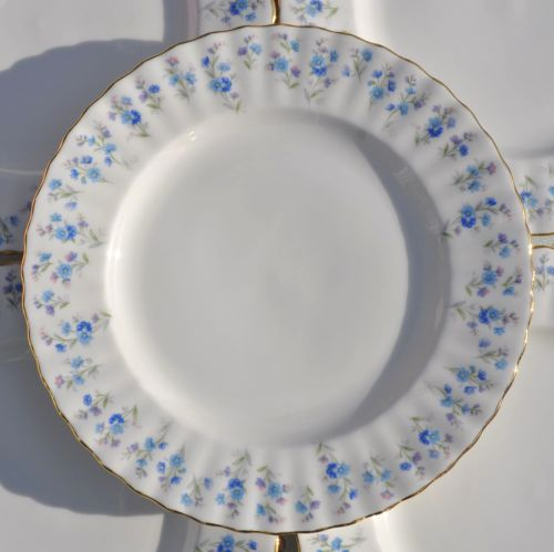 Royal Albert Memory Lane Bone China Vintage 21cm Tea Plates Set of Six