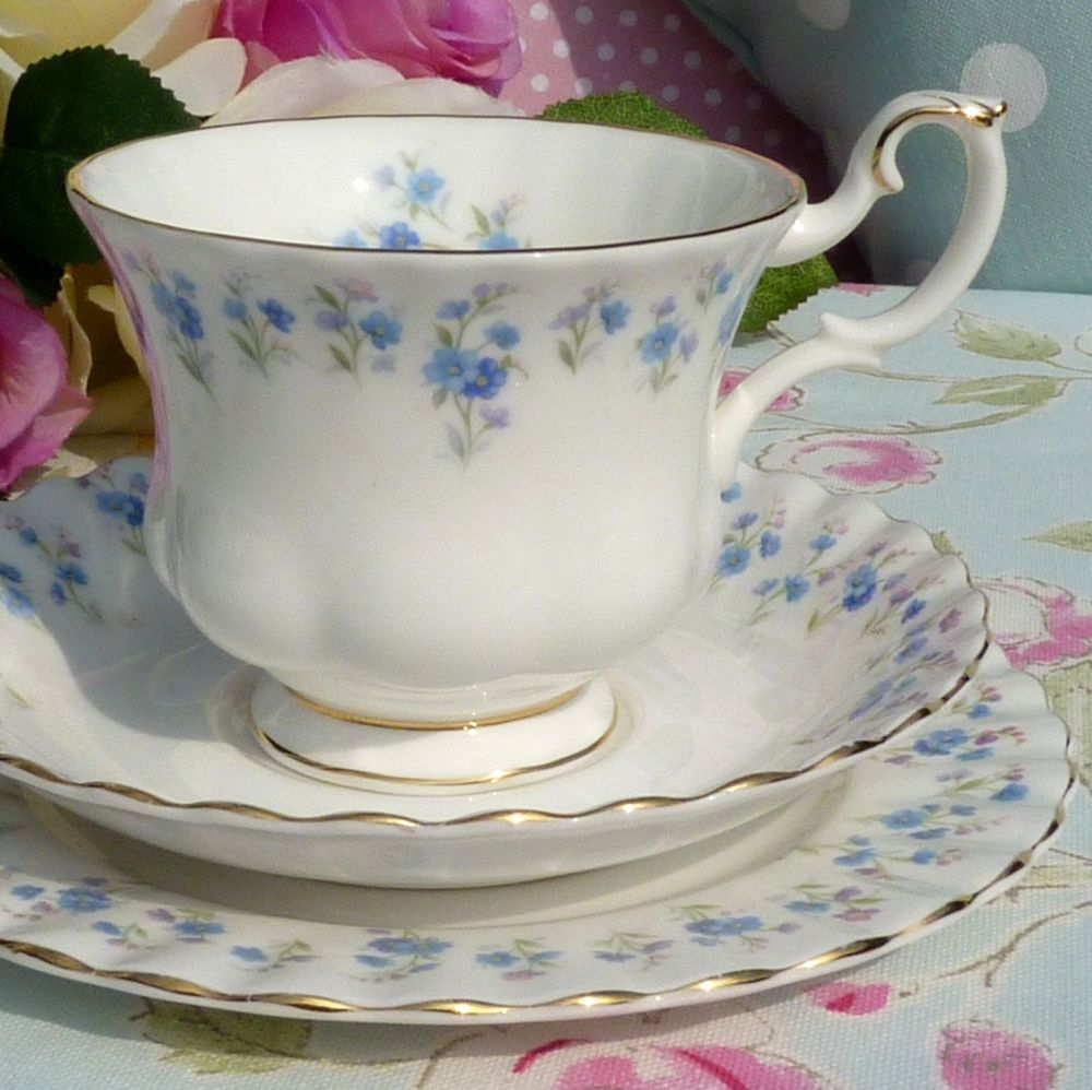 Royal Albert Memory Lane Vintage Bone China Teacup Trio