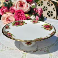 Royal Albert Old Country Roses Pedestal Cake Stand c.1962+