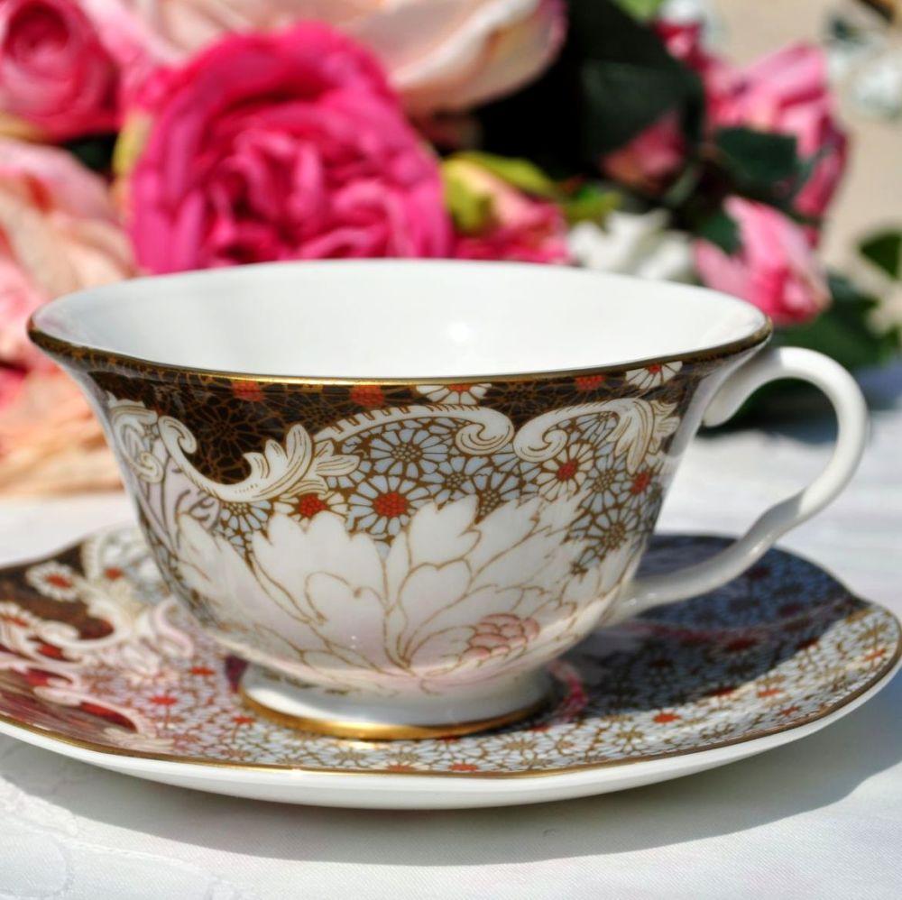 Wedgwood Daisy Blue Tea Story Teacup and Saucer