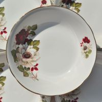 Royal Ascot Red Rose Dessert Dishes x 6