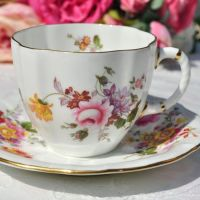 Royal Crown Derby Posies Teacup and Saucer c.1989
