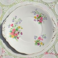 Queen Anne Old Country Spray Cake Plate c.1960s