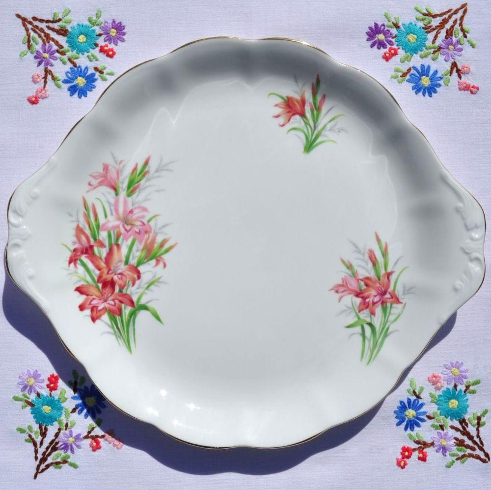 Royal Albert Gladiolus Cake Plate c.1950s