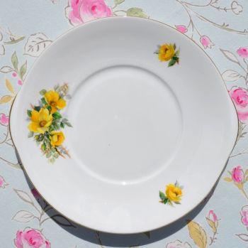 Royal Grafton Yellow Roses Vintage China Cake Plate