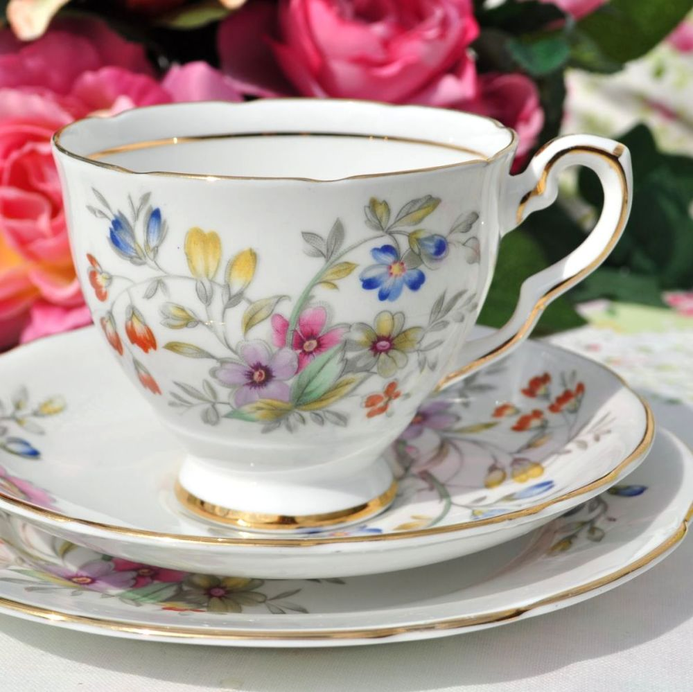 Royal Stafford Bideford Teacup Trio