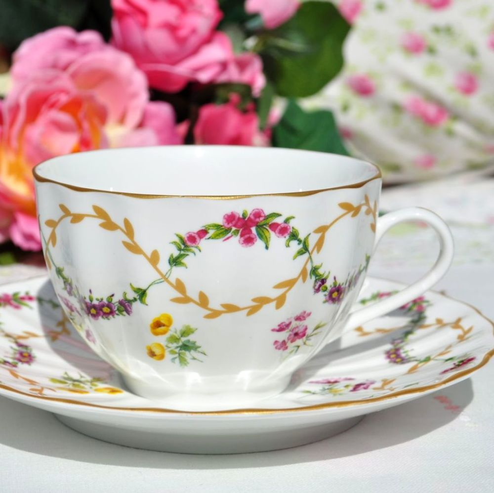 Royal Worcester Foxglove Teacup and Saucer c.1997