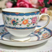 Wedgwood Harcourt Vintage China Teacup and Saucer c.1991