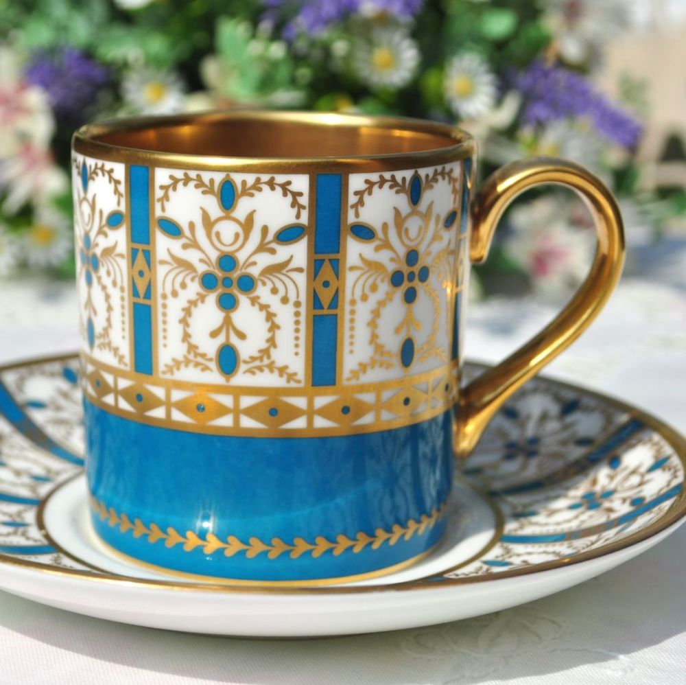 Minton Basilica Demitasse Coffee Cup and Saucer