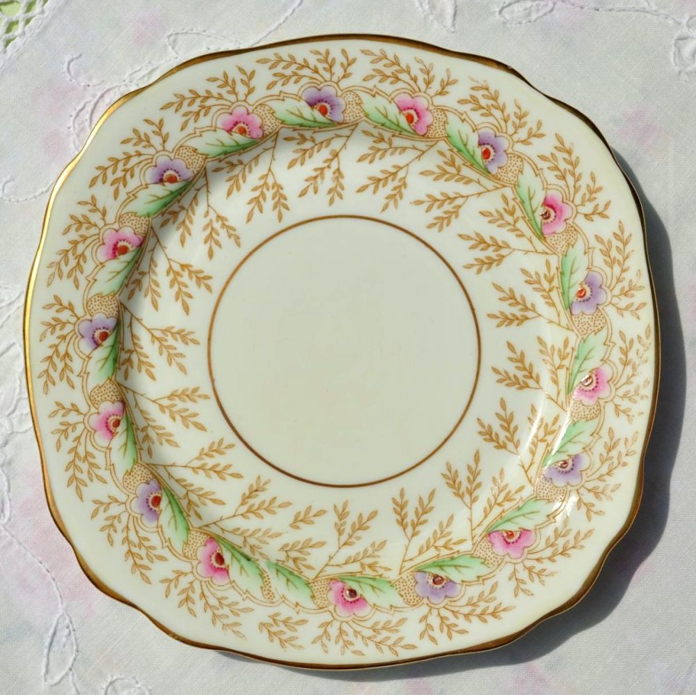 Royal Stafford Hand Painted Vintage China 15.5cm Tea or Side Plate