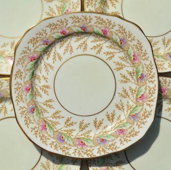 Royal Stafford Hand Painted Tea Plates Set