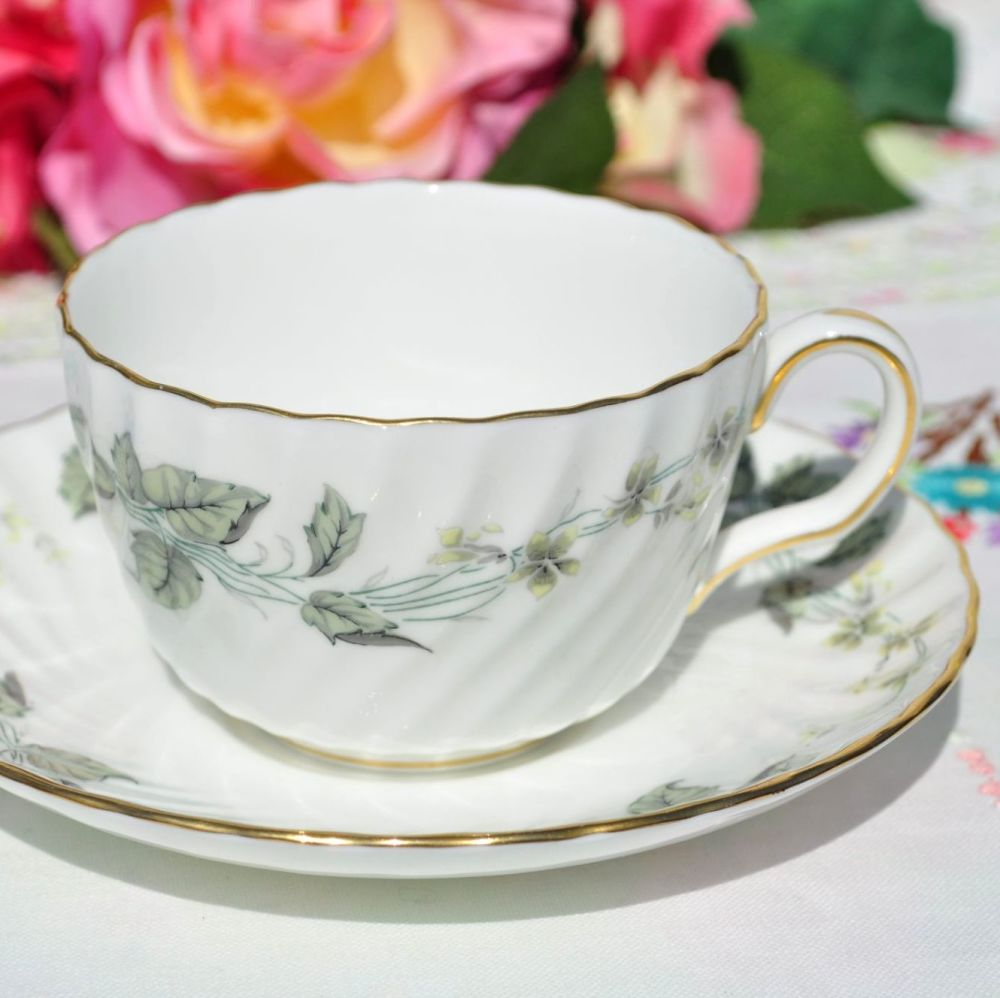 Minton Greenwich Pattern Teacup and Saucer c.1963