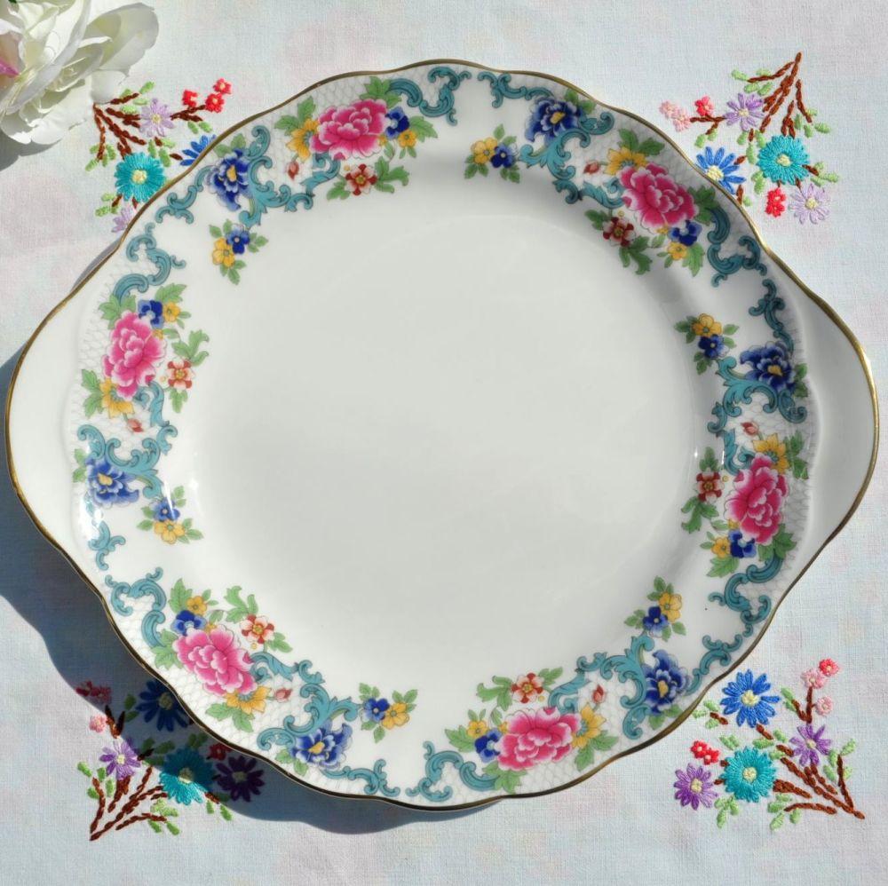 Royal Doulton Booths Floradora Cake Plate
