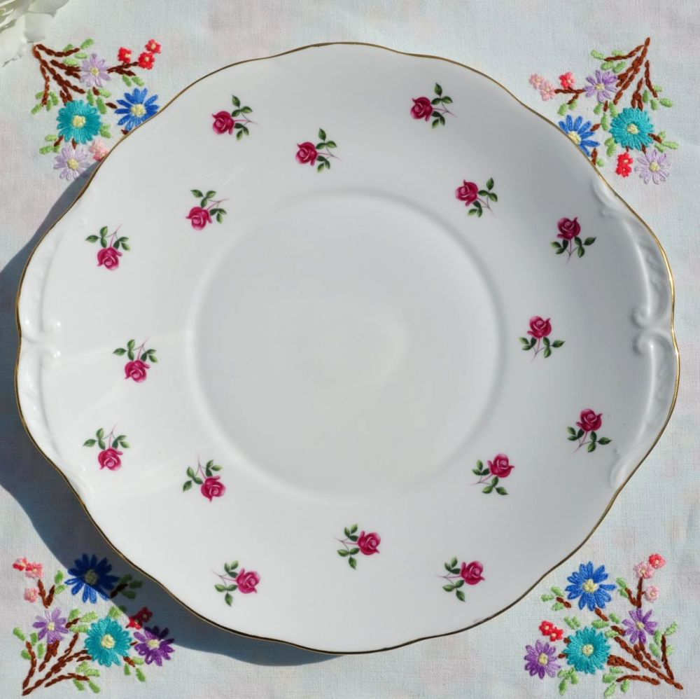 Colclough Fragrance Ditsy Roses Cake Plate