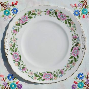 Colclough Floral China Cake Plate c.1950s
