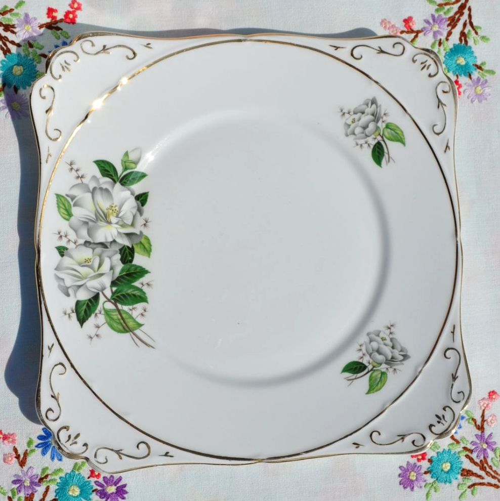 Royal Stafford Camellia Cake Plate