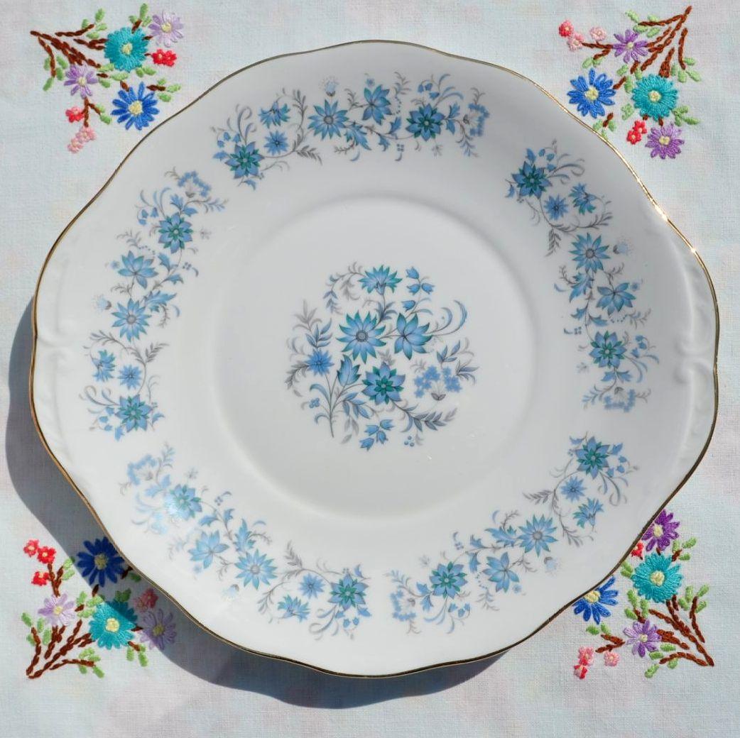 Colclough Braganza Bone China Cake Plate c.1960s