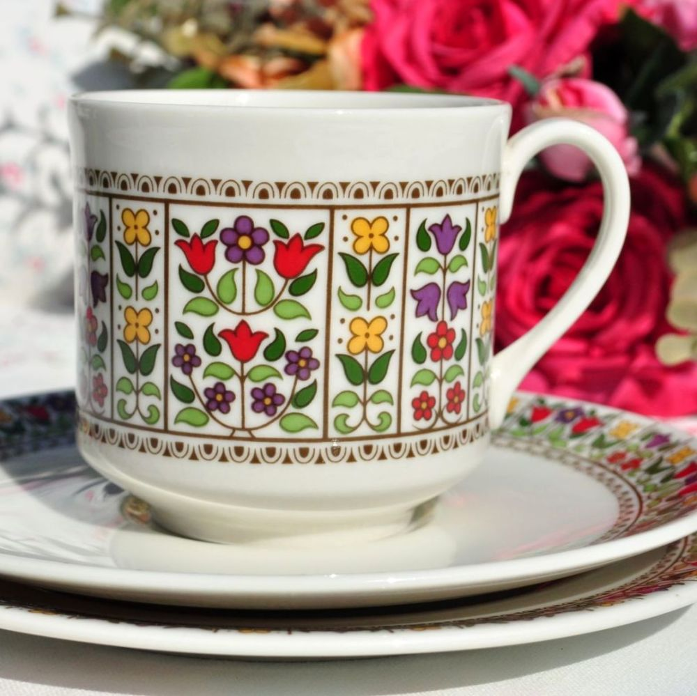 Royal Doulton Fireglow Teacup Trio