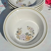 Royal Albert Cottage Flowers Dessert Dishes Set