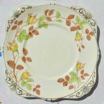 Royal Grafton Rose Bud Cake Plate  c.1950+