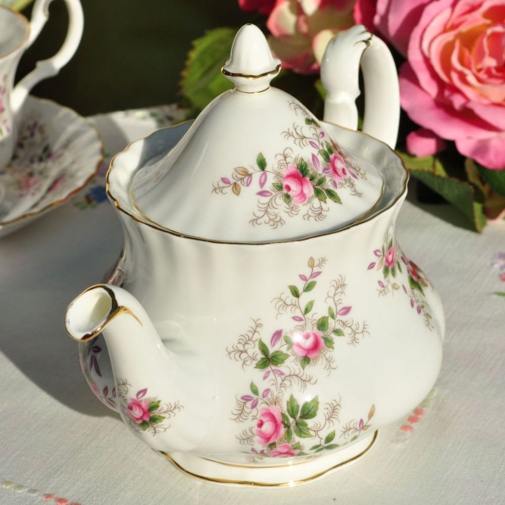 Royal Albert Lavender Rose One Pint Teapot c.1960s