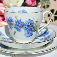Adderley Cornflower Teacup Trio c.1962