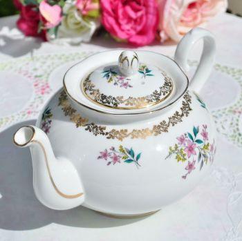 Royal Grafton Vintage Floral China Teapot c.1957+