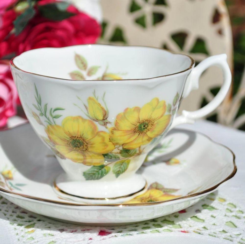 Royal Albert Yellow Roses Teacup and Saucer