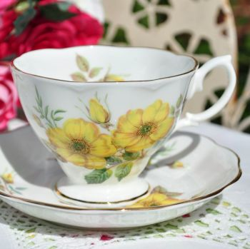 Royal Albert Yellow Roses Teacup and Saucer c.1950s