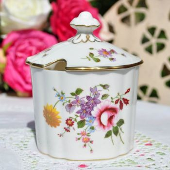 Royal Crown Derby Posies Preserve Pot and Lid