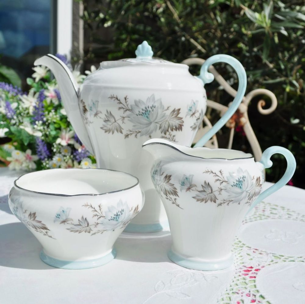 Aynsley Teapot, Milk Jug and Sugar Bowl Set