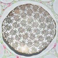 Royal Vale Gold Filigree Cake Plate c.1960s