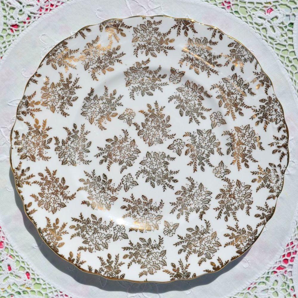 Royal Vale Gold Filigree Square Cake Plate