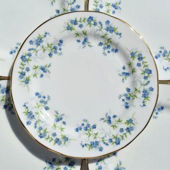 Queen Anne Sonata Tea Plates Set c.1970s