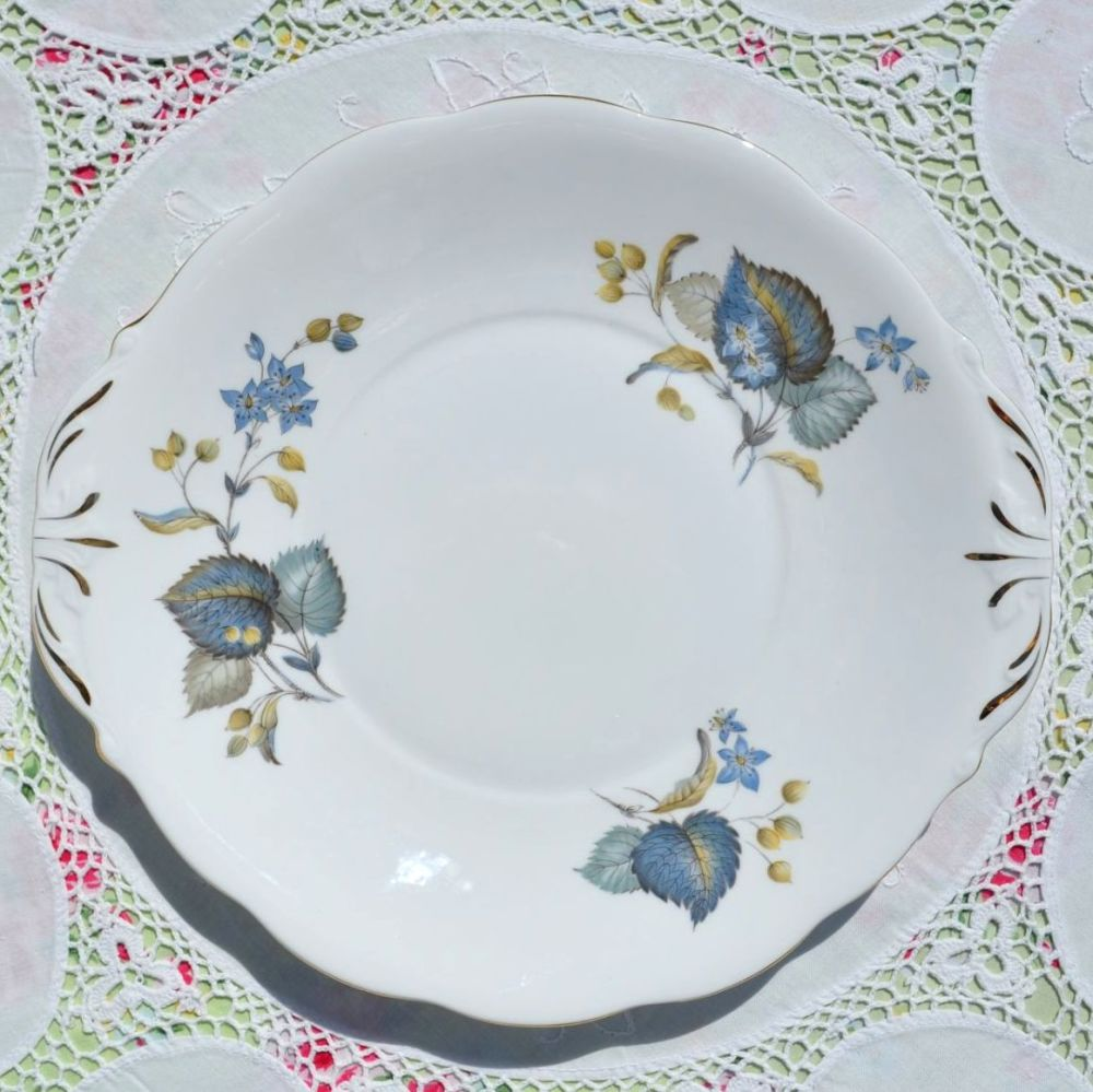 Queen Anne Blue Harebell Cake Plate