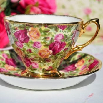 Royal Albert Old Country Roses Chintz Teacup and Saucer