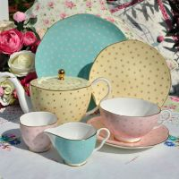 Wedgwood Harlequin Polka Dot Tea Set for One