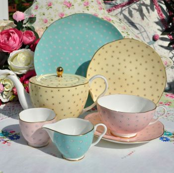 Wedgwood Harlequin Polka Dot Tea Set for One