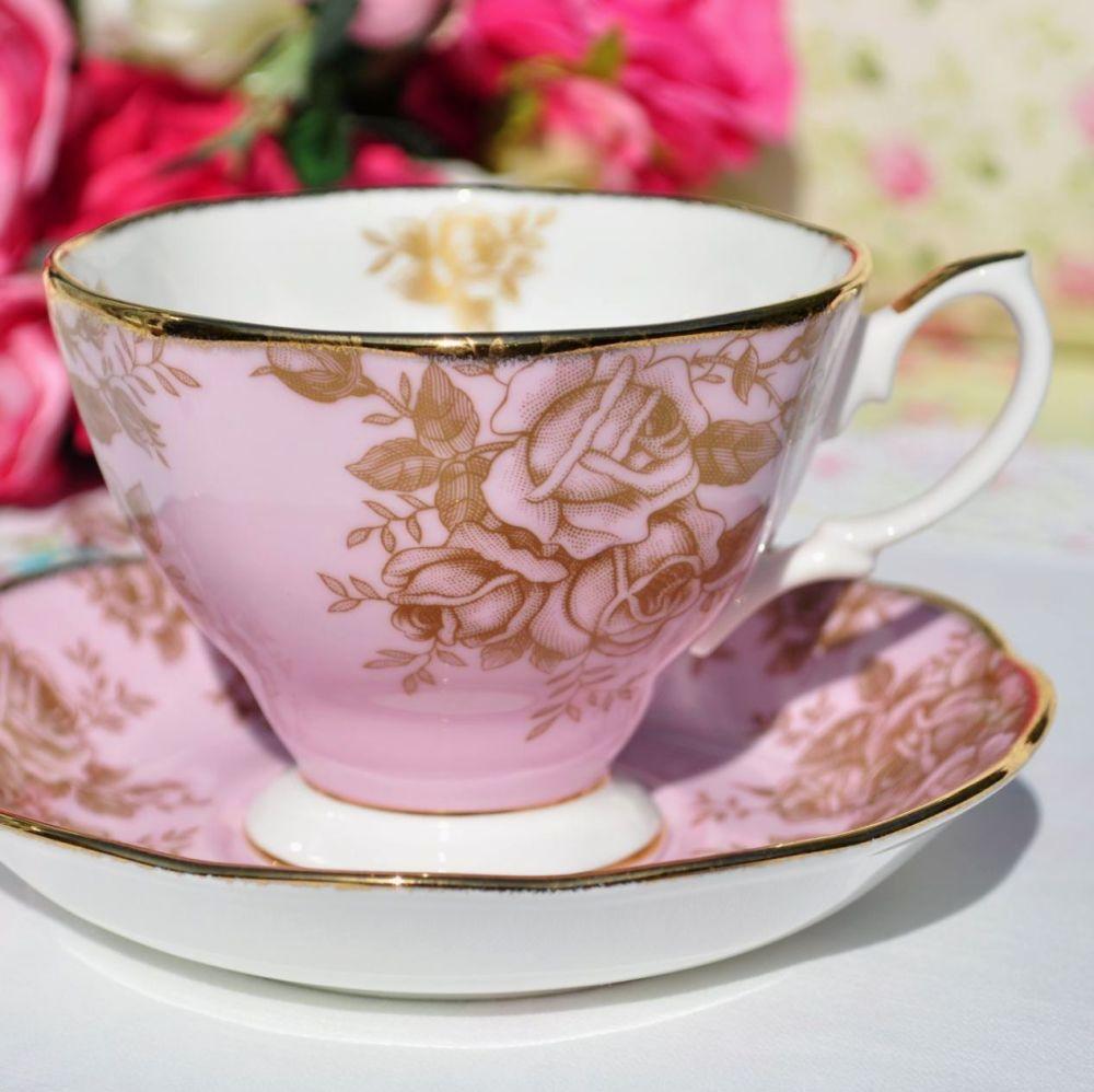 Royal Albert Golden Roses Teacup and Saucer