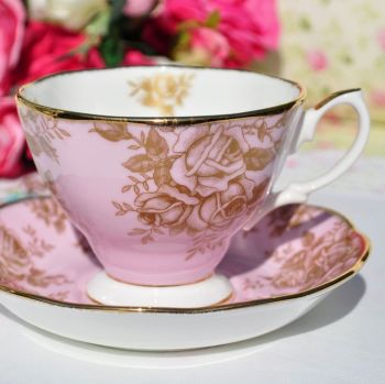 Royal Albert Golden Roses Teacup and Saucer