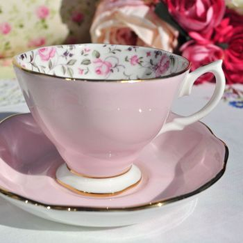Royal Albert Rose Confetti Teacup and Saucer