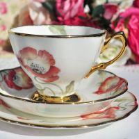 Royal Albert Poppy Teacup Trio