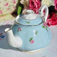 Royal Albert Polka Blue Large Teapot